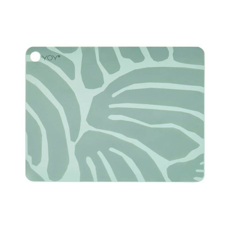 OYOY Placemat Roa mint green silicone set of two 45x34x0,15cm