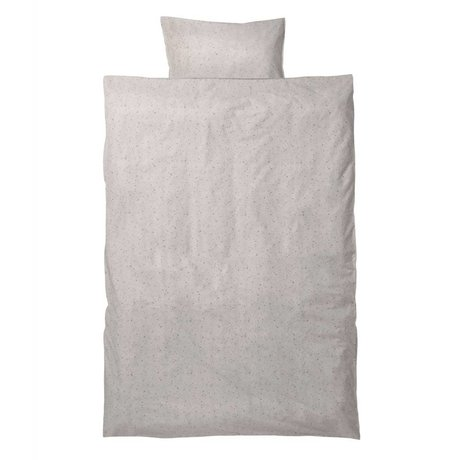 Ferm Living Hush junior Bettdecke gesetzt milkyway Creme Baumwolle 110x140 cm inkl pillowcase 46x40cm
