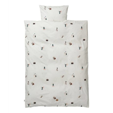 Ferm Living Junior Duvet Party mis taie en coton 46x40cm 110x140cm incl