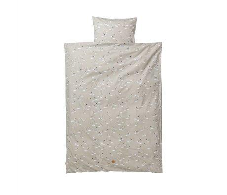 Ferm Living Swan duvet cover set baby gray cotton 70x100 cm incl pillowcase 46x40cm