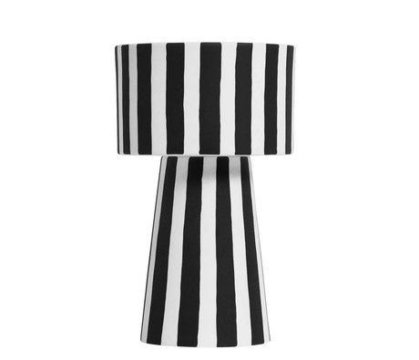 OYOY Bloempot Toppu zwart wit keramiek Ø15x24cm