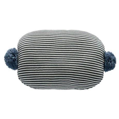 OYOY Cushion Bonbon white gray blue cotton 45x35cm