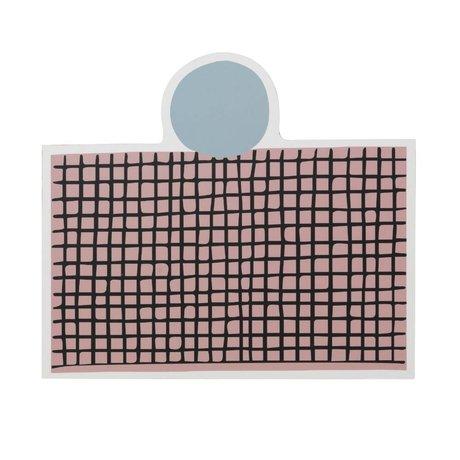 Ferm Living Placemat Parti lumière rose clair MDF liège 40x35cm