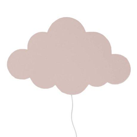 Ferm Living Applique murale nuage rose clair bois 40x25cm