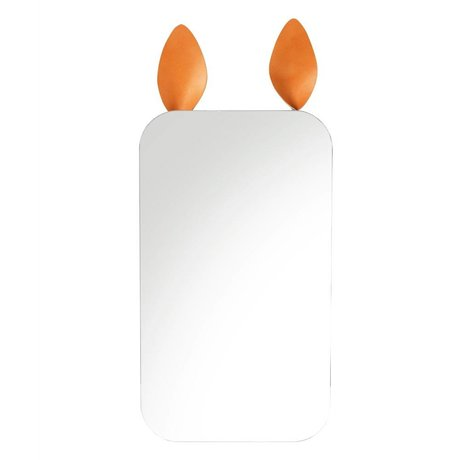Ferm Living Rabbit brown mirror mirror metallic leather 25x44cm