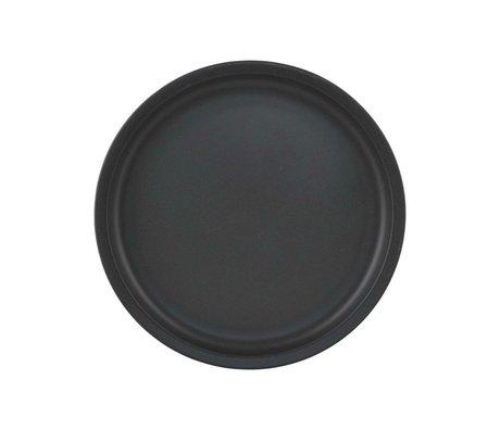 Nicolas Vahe Ontbijtbord Nista black ceramics Ø22,5x1,75cm