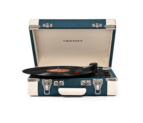 Crosley Radio Crosley radio Crosley Executive blauw créme 35,5x28x11,4cm