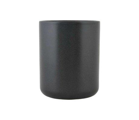 Nicolas Vahe Nista Can céramique noire M Ø10,5x13cm