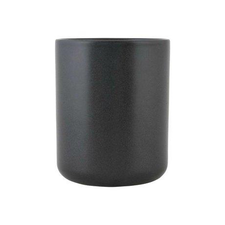 Nicolas Vahe Kan Nista zwart keramiek M Ø10,5x13cm