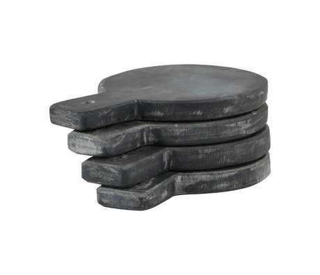 Nicolas Vahe Serve Plate gray slate set of 4 Ø10x14cm