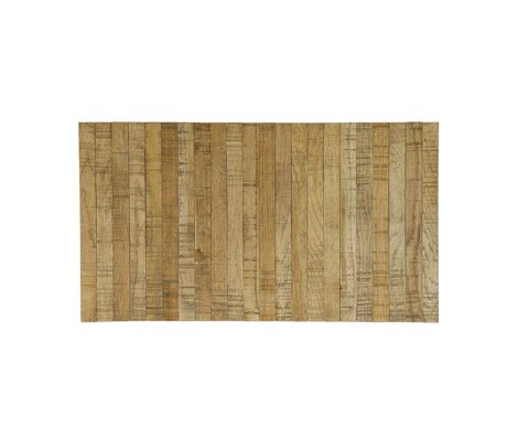 LEF collections Armrest tray flexible brown oak 44x24cm