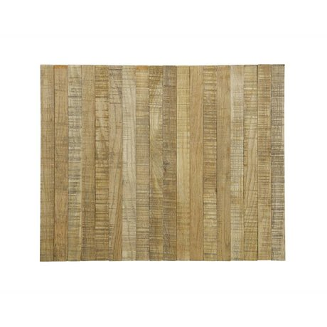 LEF collections Armleuning dienblad flexibel bruin eikenhout XL 45x36cm