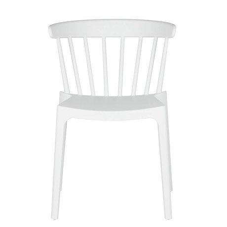 LEF collections Chaise de jardin Bliss blanc plastique 53x52x75cm