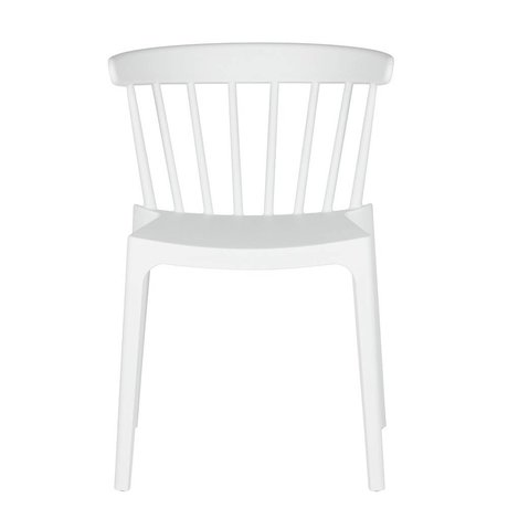 LEF collections Garden chair Bliss white plastic 53x52x75cm