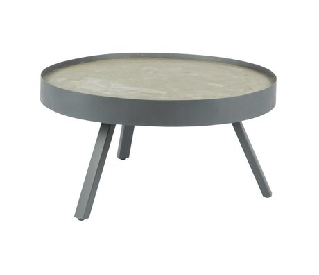 LEF collections Coffee table Skip gray concrete L Ø74x38cm