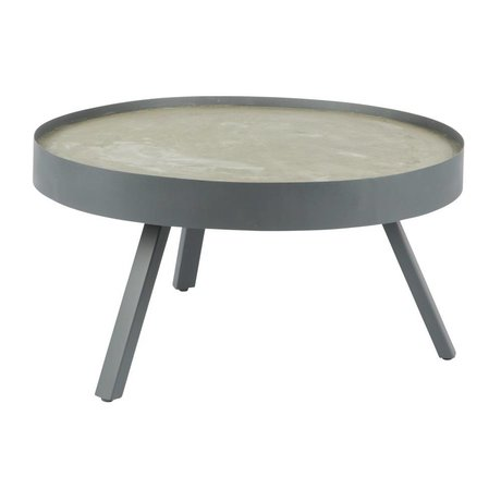 LEF collections Table basse Passer béton gris L Ø74x38cm