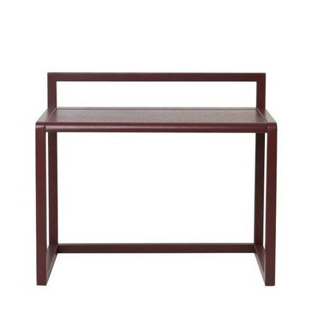 Ferm Living Bureau Little Architect bordeaux rood hout 70x45x60cm