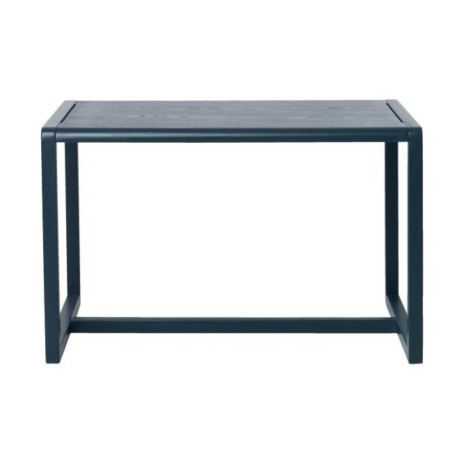Side Table Donker Hout.Ferm Living Tafel Little Architect Donker Blauw Hout 76x55x43cm