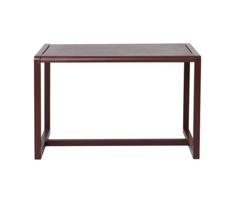 Ferm Living Tafel Little Architect bordeaux rood hout 76x55x43cm