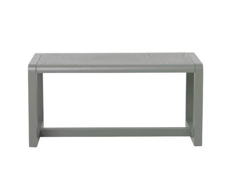 Ferm Living Bench Little Architect gray wood 62x30x30cm