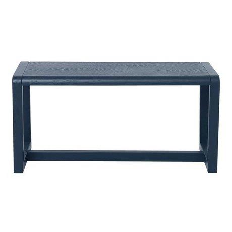 Ferm Living Bankje Little Architect donker blauw hout 62x30x30cm