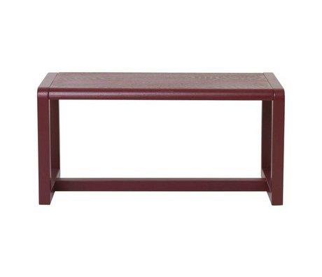 Ferm Living Bench Little Architect burgundy wood 62x30x30cm
