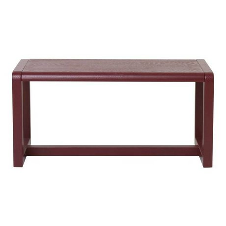 Ferm Living Bankje Little Architect bordeaux rood hout 62x30x30cm