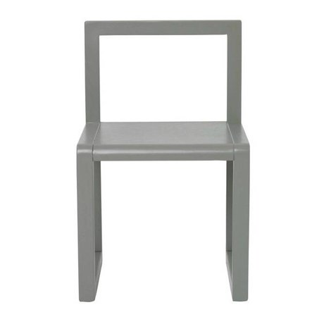 Ferm Living Chair Little Architect gray wood 32x51x30cm