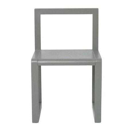 Ferm Living Stuhl kleine Architekt grau Holz 32x51x30cm