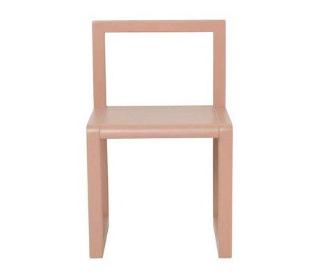 Ferm Living Stoel Little Architect roze hout 32x51x30cm