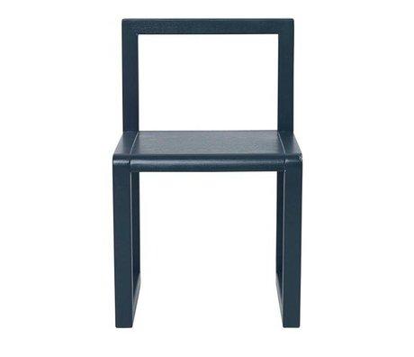 Ferm Living Chair Little Architect dark blue wood 32x51x30cm