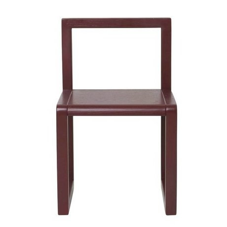 Ferm Living Chair Little Architect burgundy wood 32x51x30cm