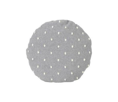 Ferm Living Cushion Popcorn Round gray cotton Ø40cm
