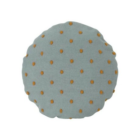 Ferm Living Cushion Popcorn Round dusty mint green cotton Ø40cm