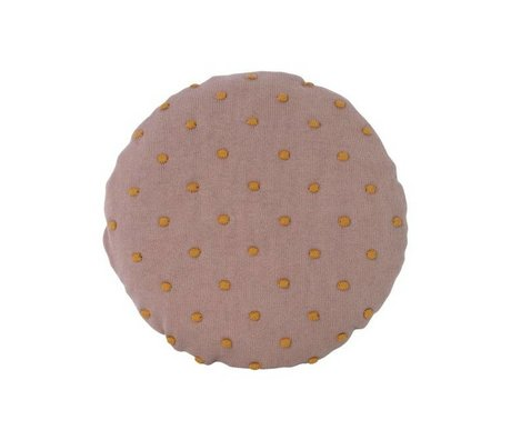 Ferm Living Cushion Popcorn Round dusty pink cotton Ø40cm