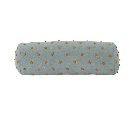 Ferm Living Bolster pillow Popcorn dusty mint green cotton 50x18x18cm