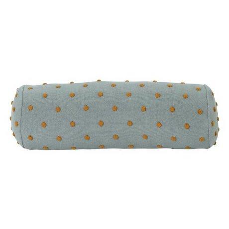 Ferm Living Bolster Kissen Popcorn staubig mintgrün Baumwolle 50x18x18cm