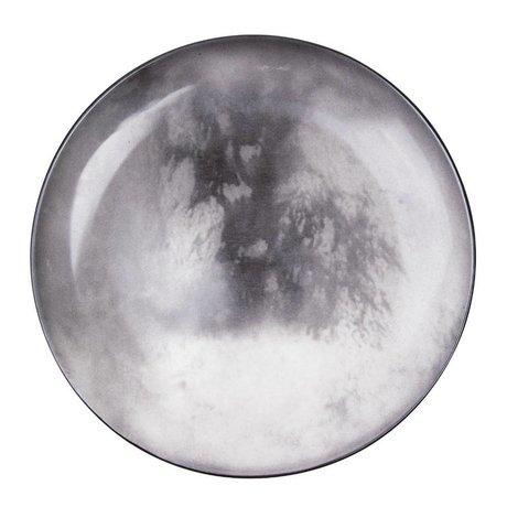 Seletti Assiette Titan gris porcelaine Ø26x3cm