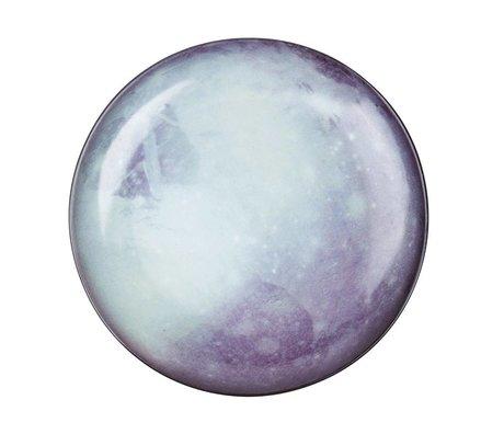 Seletti Diner bord Pluto wit blauw porselein Ø26x3cm