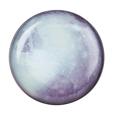 Seletti Assiette Pluto blanc bleu porcelaine Ø26x3cm