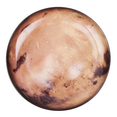 Seletti Diner bord Venus oranje bruin porselein Ø26x3cm