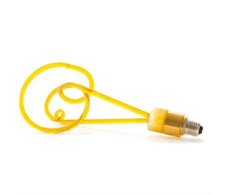 Seletti Lampe LED verre Twist ambrée avec E27 30cm