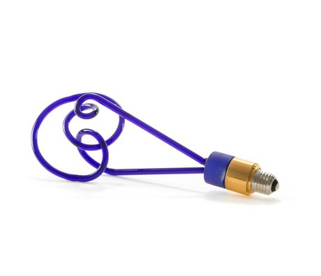 Seletti LED-Lampen-Twist blauem Glas mit E27 30cm