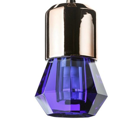 Seletti Ledlamp Crystaled-new Spot blauw kristal glas met E27 fitting Ø7x12,5cm