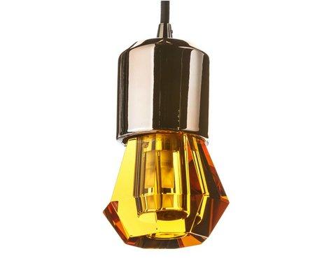 Seletti lampe LED crystaled nouveau verre de cristal Spot ambre avec E27 Ø7x12,5cm