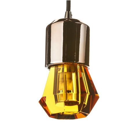 Seletti Ledlamp Crystaled-new Spot amber geel kristal glas met E27 fitting Ø7x12,5cm