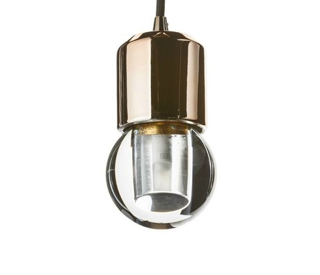Seletti lampe LED crystaled nouveau verre transparent de cristal blanc rond avec E27 7,7x7,7x12,5cm