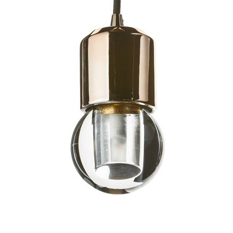 Seletti Ledlamp Crystaled-new Round transparant wit kristal glas met E27 fitting 7,7x7,7x12,5cm