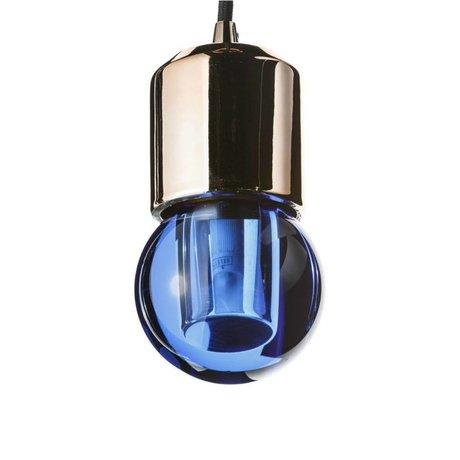 Seletti LED-Lampe crystaled neue Runde blaue Kristallglas mit E27 7,7x7,7x12,5cm