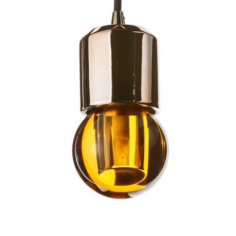 Seletti LED lamp crystaled-new Round amber crystal glass with E27 7,7x7,7x12,5cm